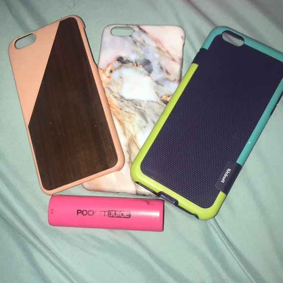 more photos 04d06 59b34 3 iPhone 6s plus cases and a portable charger